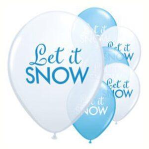 "Ballons ""Let it snow"""