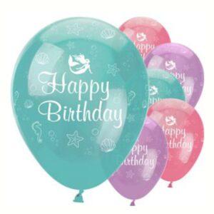 """Meerjungfrauen """"Happy Birthday"""" Ballons"""