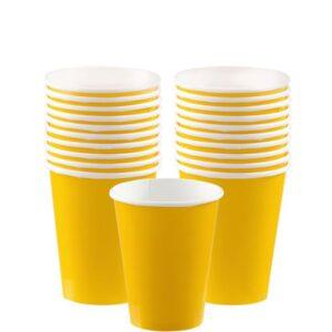 20 gelbe Pappteller