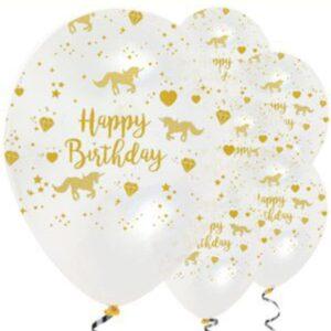 Einhorn Ballons, weiss