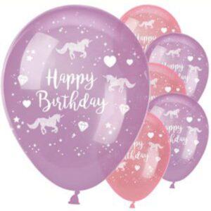 Einhorn Ballons Pink und Lila