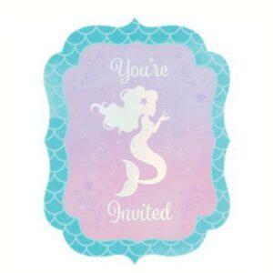 Meerjungfrauen Einladungen