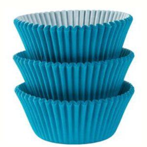 Blaue Cupcake-Förmchen