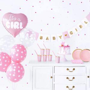 babyshower girl rosa girlande ballon