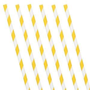 Papierstrohhalme, gelb-weiss gestreift