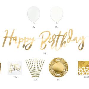 Happy Birthday in gold
