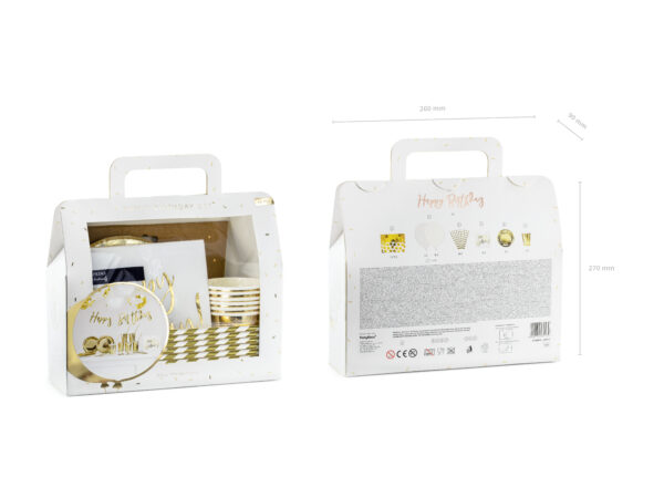 Happy Birthday Box Gold