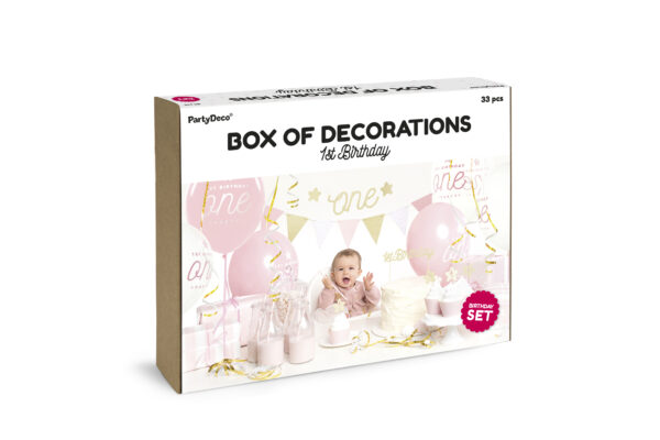 Box of decoration gold rosa one