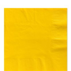 Gelbe Papierserviette