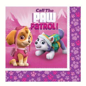 Pink Paw Patrol Servietten