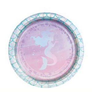 Meerjungfrauen Pappteller 18cm