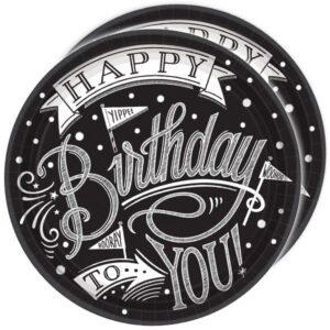 "Happy Birthday Set ""Black and White"""